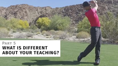 My Approach to Teaching the Golf Swing Is Different